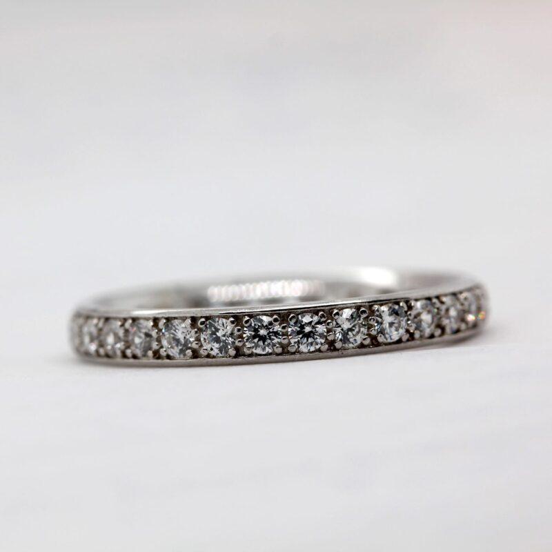 Eco Friendly Diamond Wedding Band - Charity Three Quarter Set