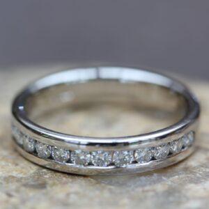 Eco Conscious Diamond Channel Set Ring - Corona Full Set