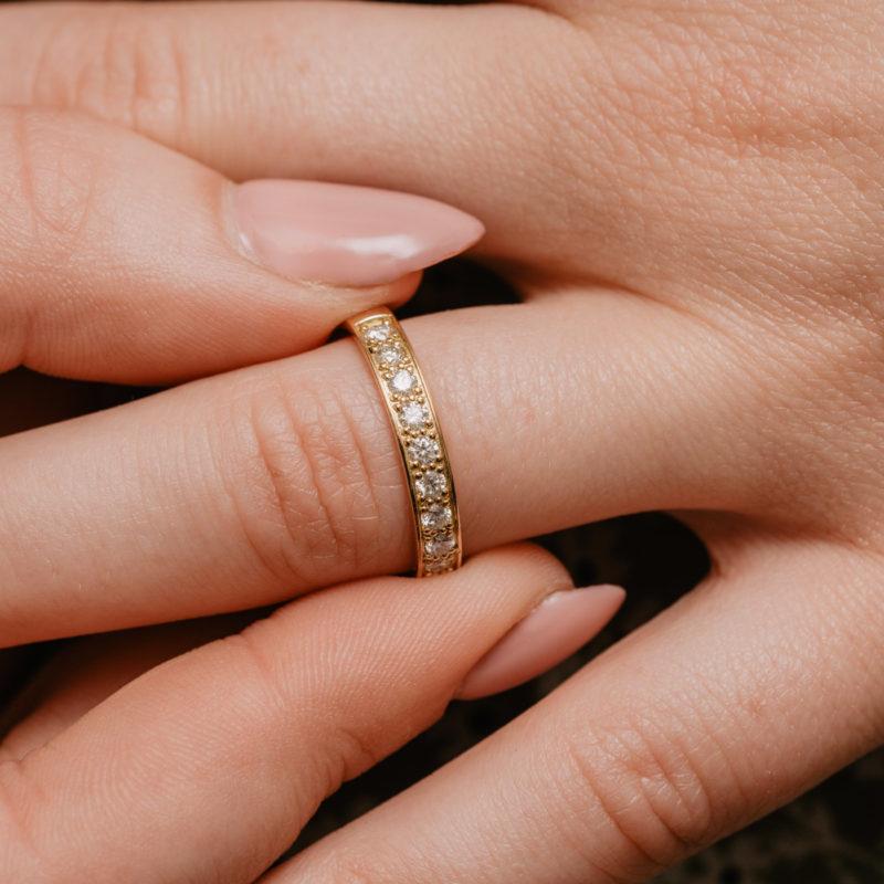 Conflict Free Diamond Wedding Ring | Cosette Half Set | Ethica Diamonds