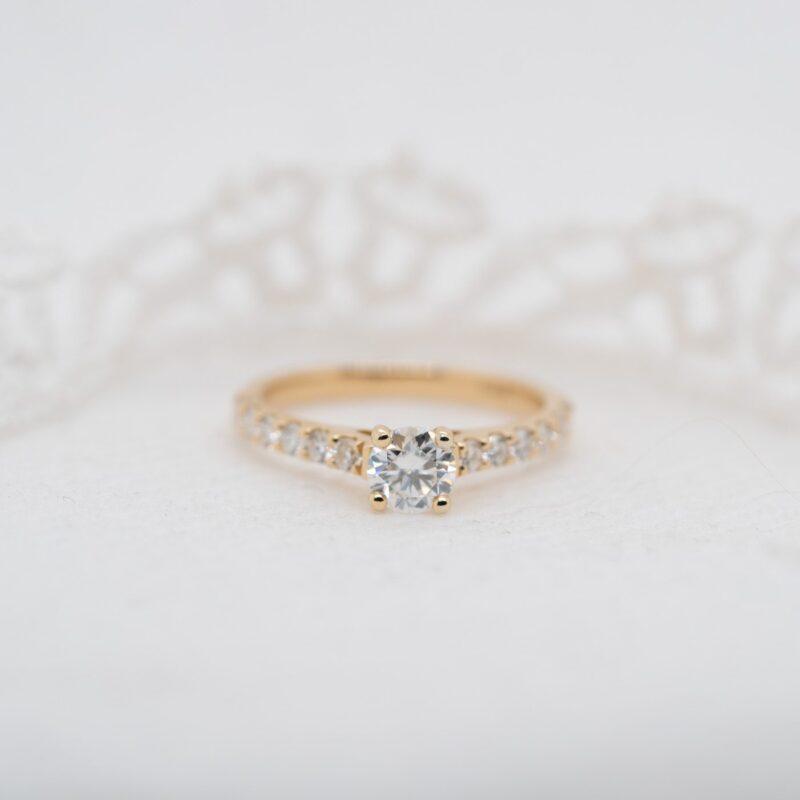 Eco Friendly Round Diamond Alternative Engagement Ring   Estella   Ethica Cornwall