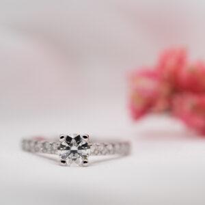 Eco Friendly Round Diamond Engagement Ring | Estella | Ethica Cornwall