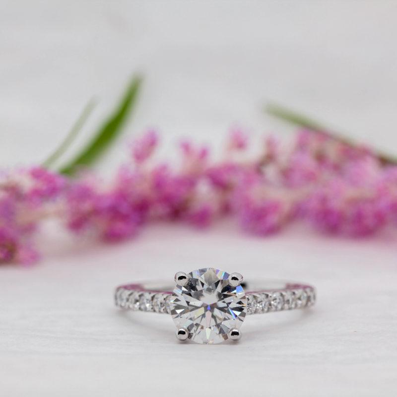 Eco Friendly Round Diamond Engagement Ring - Estella