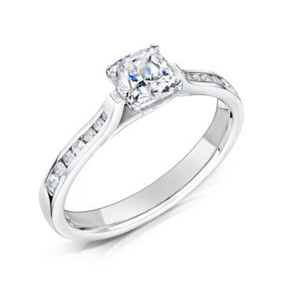 Unique Shoulder Set Engagement Ring - Irene