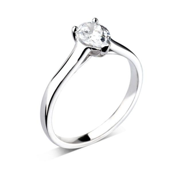 Sustainable Pear Cut Diamond Ring - Kara