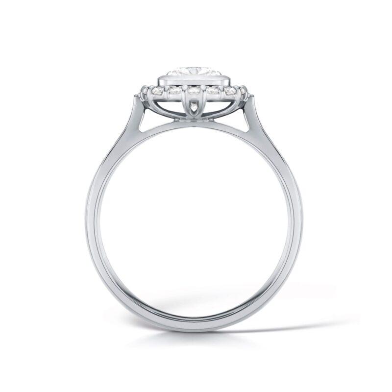 Cushion Cut Halo Engagement Ring | Lovina | UK
