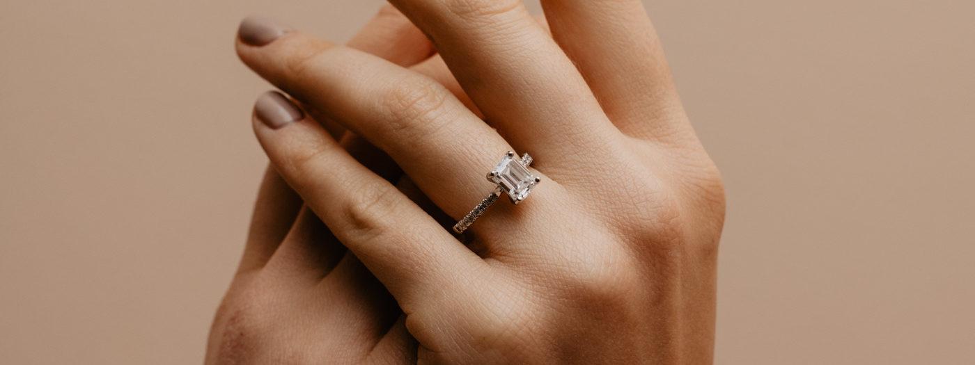 Eco Friendly Diamond Engagement Ring | Nouveau | Ethica Diamonds UK
