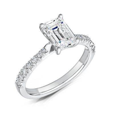 Eco Friendly Diamond Engagement Ring - Nouveau