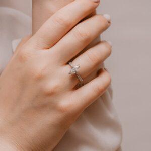 Sustainable Diamond Alternative Engagement Ring   Nouveau   Ethica Cornwall