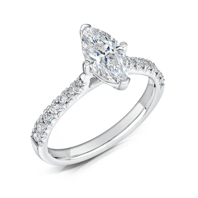 Sustainable Diamond Engagement Ring - Nouveau