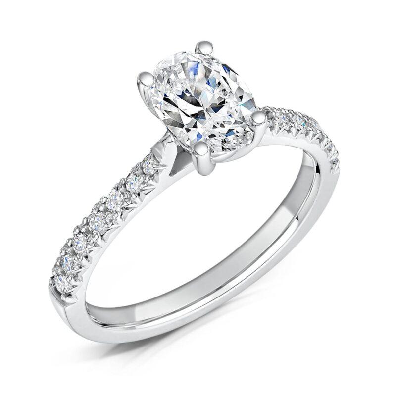 Vegan Friendly Diamond Engagement Ring - Nouveau