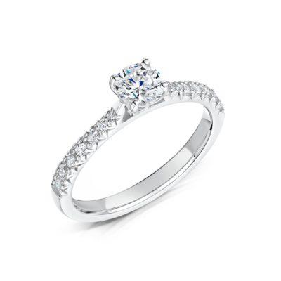 Man Made Diamond Engagement Ring - Nouveau