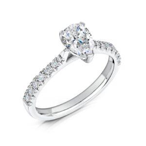 Synthetic Diamond Engagement Ring - Nouveau