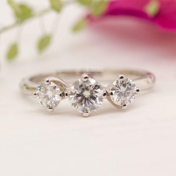 Unique Diamond Trilogy Ring - Crissa