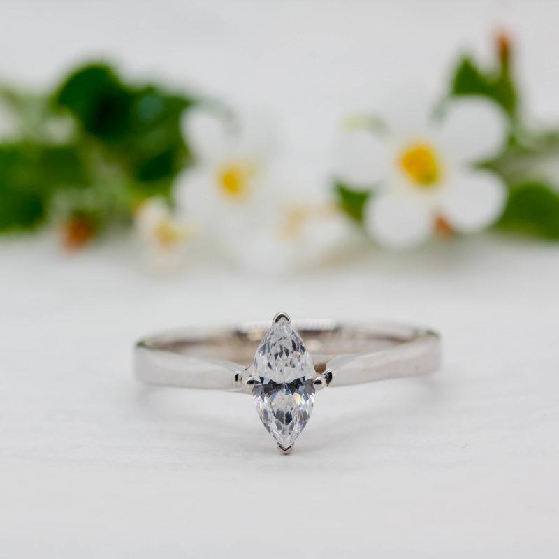 Unique Sustainable Diamond Engagement Ring - Verbena - Ethica Uk