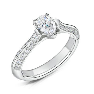 Sustainable Diamond Engagement Ring - Zahira