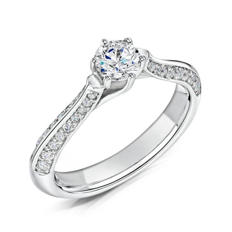 Eco Friendly Diamond Engagement Ring - Zahira