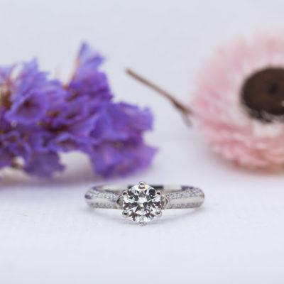 Eco Friendly Diamond Engagement Ring - Zahira - Ethica Diamonds UK