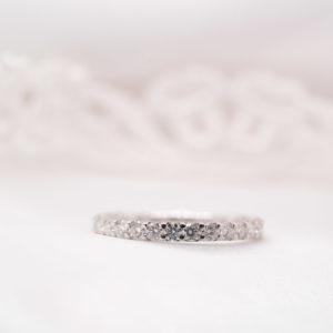 Ethical Diamond Set Wedding Ring | Zinnia Full Set 2.0mm | Ethica UK
