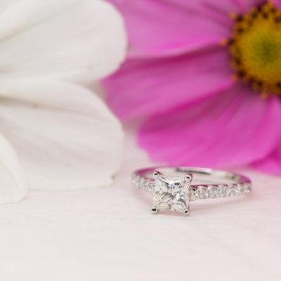 Eco Conscious Princess Diamond Engagement Ring - Estella - Ethica UK