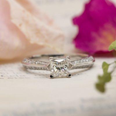 Vegan Friendly Diamond Engagement Ring - Zahira