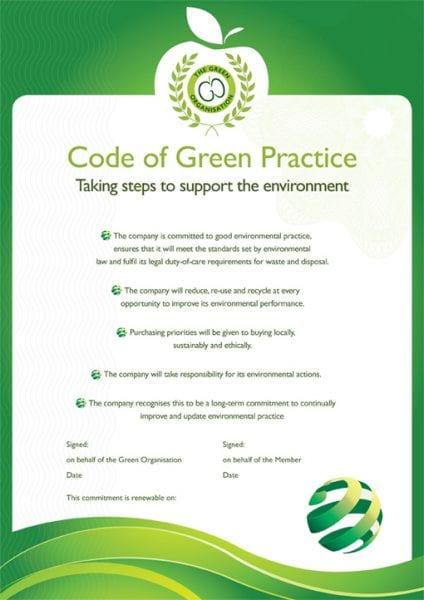 Code of Green Practice