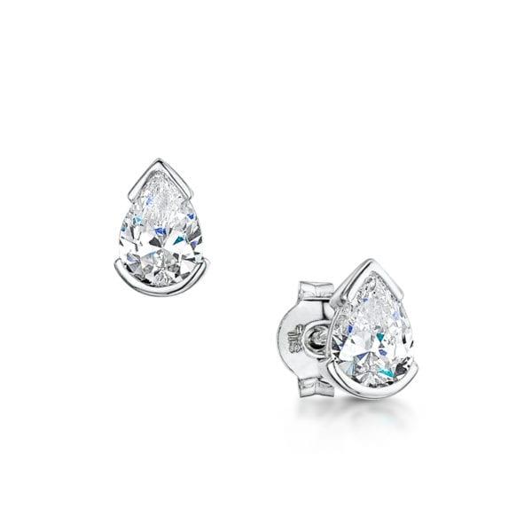 Unique Sustainable Diamond Stud Earrings - Emelina