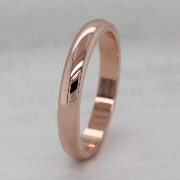 Vegan Friendly 3.0mm Recycled Metal D Shape Wedding Ring - Ethica Diamonds