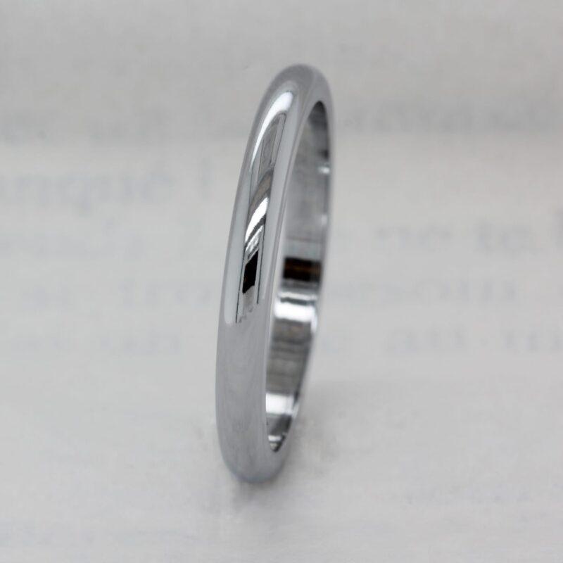 Fully Ethical D Shape Wedding Ring