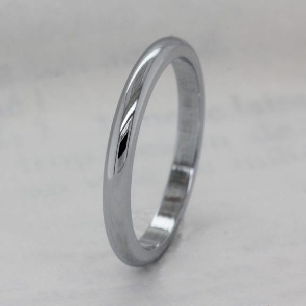 Vegan Friendly 2.5mm Recycled Metal D Shape Wedding Ring - Ethica Diamonds