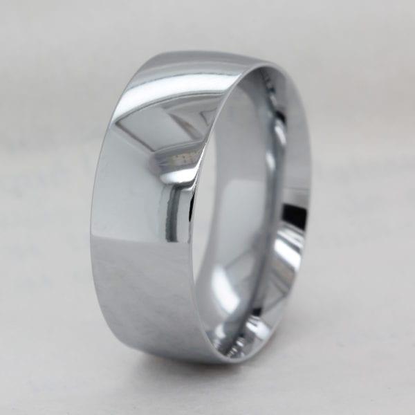Eco Friendly 8.0mm Recycled Precious Metal Court Wedding Band - Ethica Diamonds