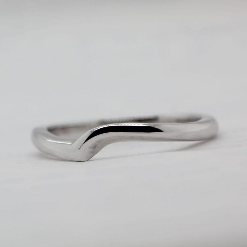 Ethical Fairtrade Shaped Wedding Band - Akilina