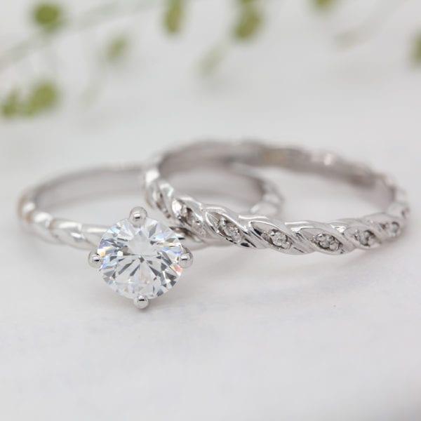 Sustainable Twisted Rope Wedding Band | Ophelia - Ethica Diamonds UK