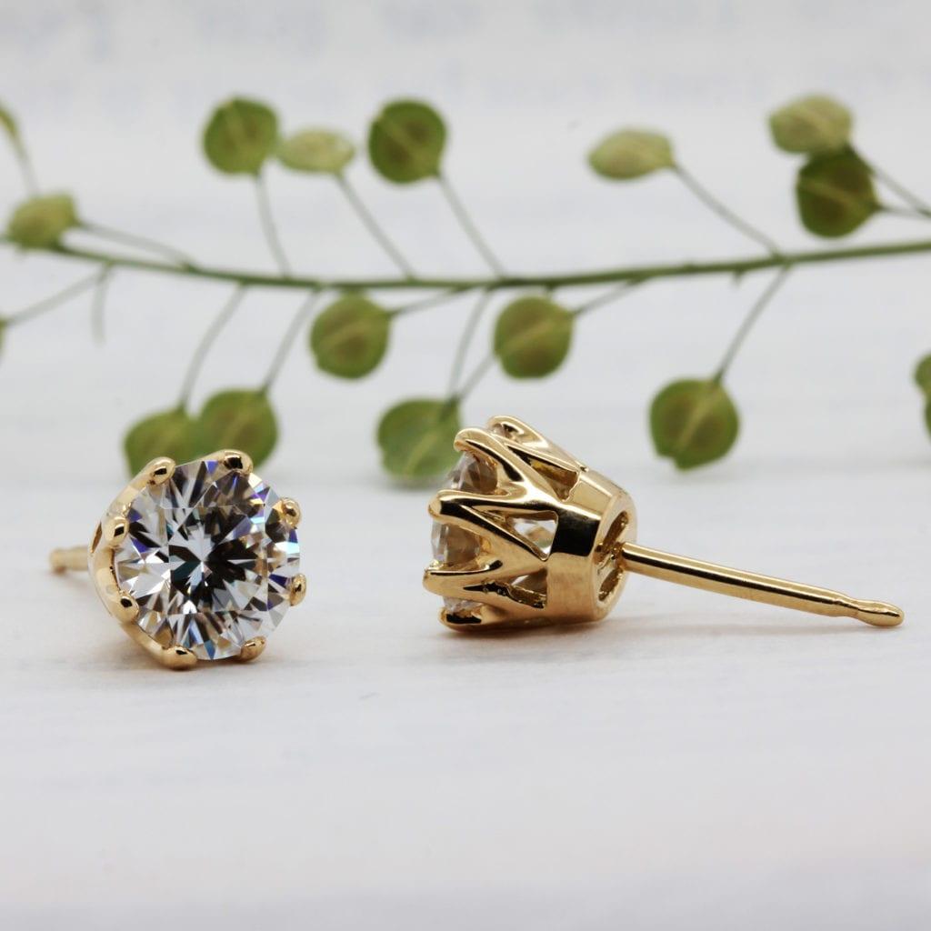Lab grown diamond earrings - Diandra - Ethica Diamonds