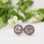 Ethical Diamond Cluster Earrings - Diana - Ethica Diamonds Cornwall UK