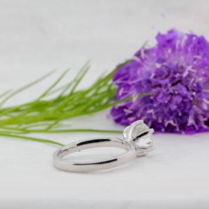 Ethical solitaire engagement ring | Ethica Diamonds UK | Finest Diamond Alternative