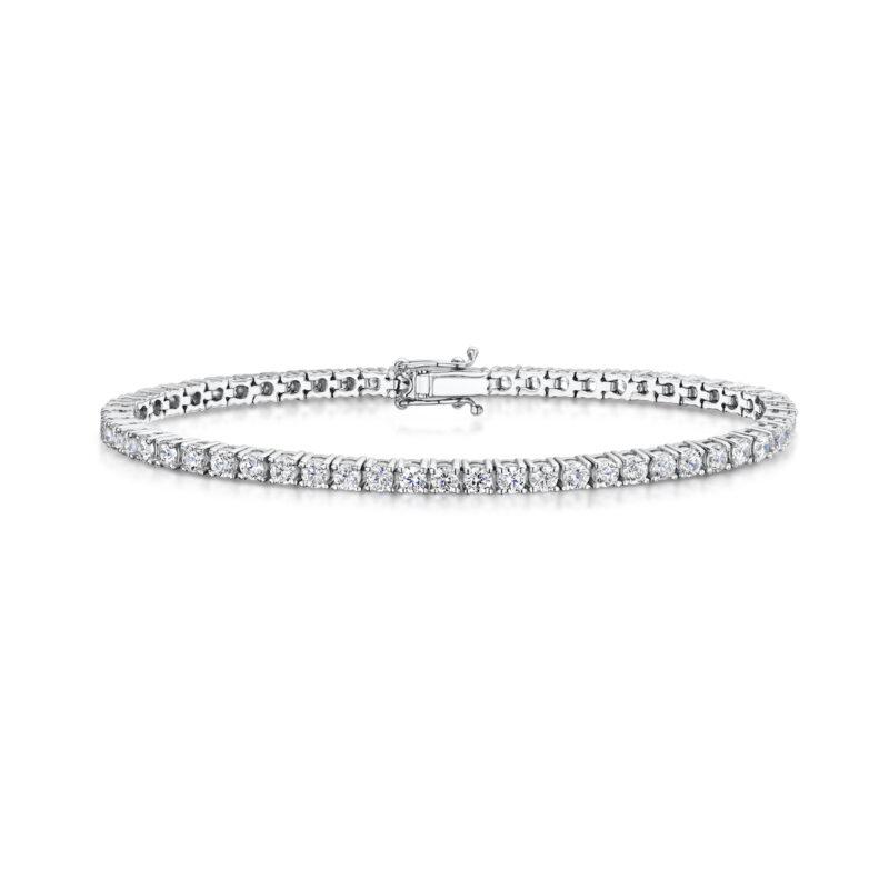 3.72 Carat Lab Created Ethical Tennis Bracelet - Ethica Diamonds - UK