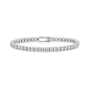 7.84 Carat Lab Created Ethical Tennis Bracelet - Ethica Diamonds - UK