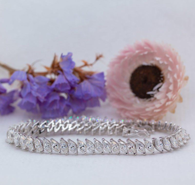 Ethical Lab-Grown Marquise Diamond Bracelet - Abigail - Ethica Diamonds