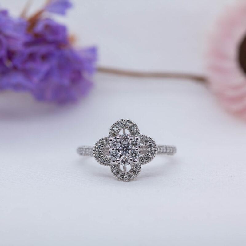 Floral Design Lab Diamond Ring - Crisanta - Ethica Diamonds Cornwall UK