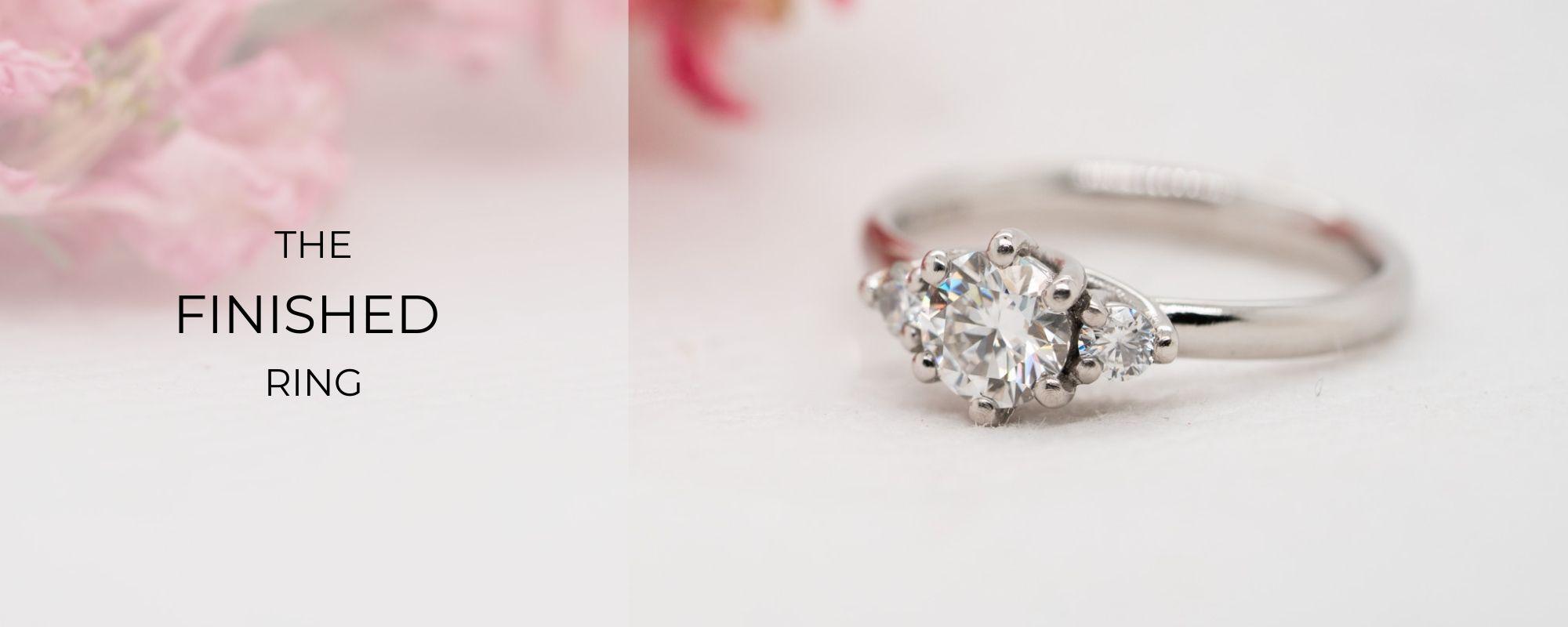 Finished Bespoke Engagement Ring