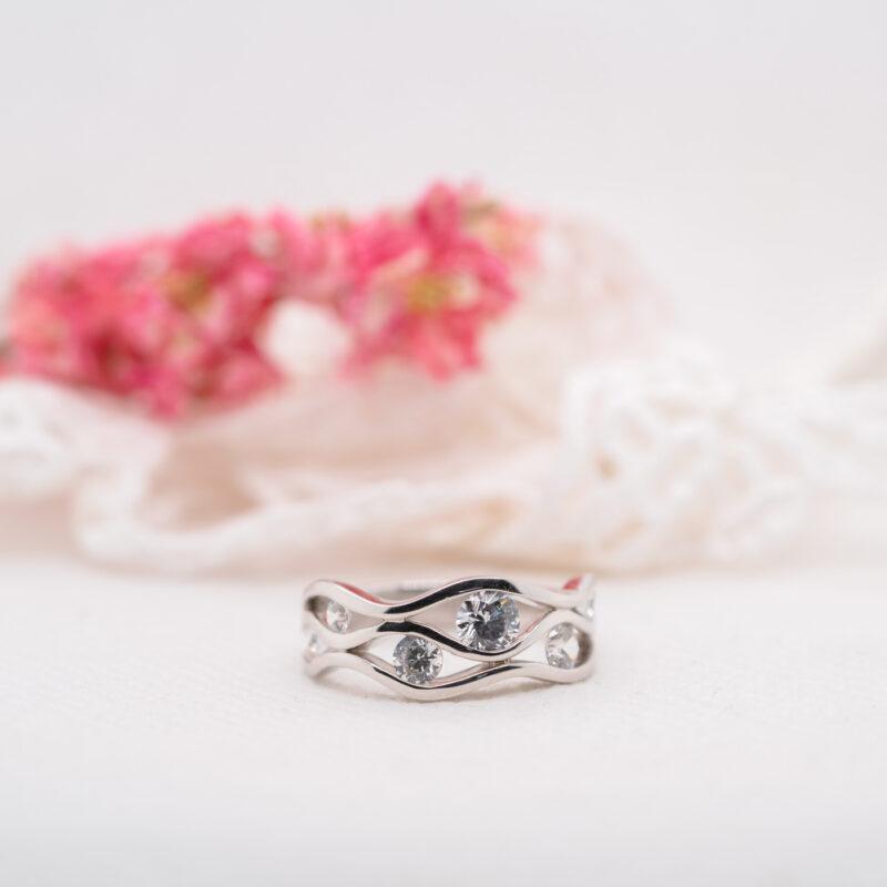 Wave & Nauticle-Style Multi Stone Lab Diamond Ring | Dory | Ethica UK