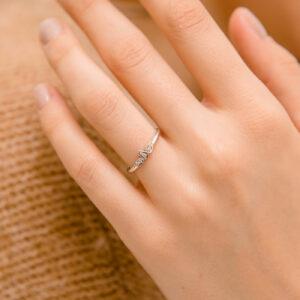 Marquise Style Diamond Set Ring | Polly | Ethica Diamonds