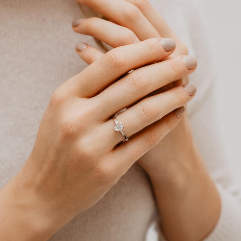 Graduated Three Stone Diamond Ring | Sabrina | Ethica Diamonds