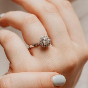 Earth Friendly Diamond Ring | Dahlia | Ethica Diamonds Cornwall UK