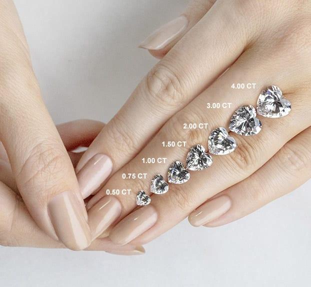Heart Cut Carat Weights - Lab Grown Diamonds & Fine Diamond Alternatives | Ethica Diamonds UK