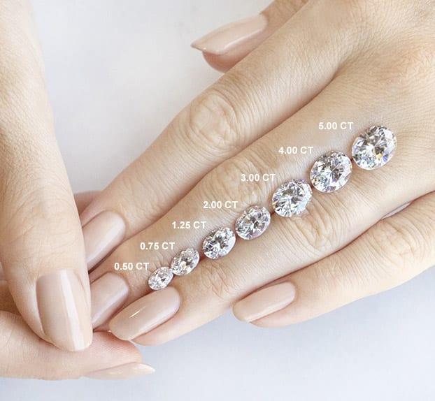 Oval Cut Carat Weights - Lab Grown Diamonds & Fine Diamond Alternatives | Ethica Diamonds UK