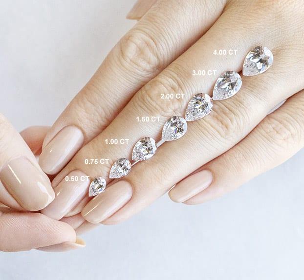 Pear Cut Carat Weights - Lab Grown Diamonds & Fine Diamond Alternatives | Ethica Diamonds UK
