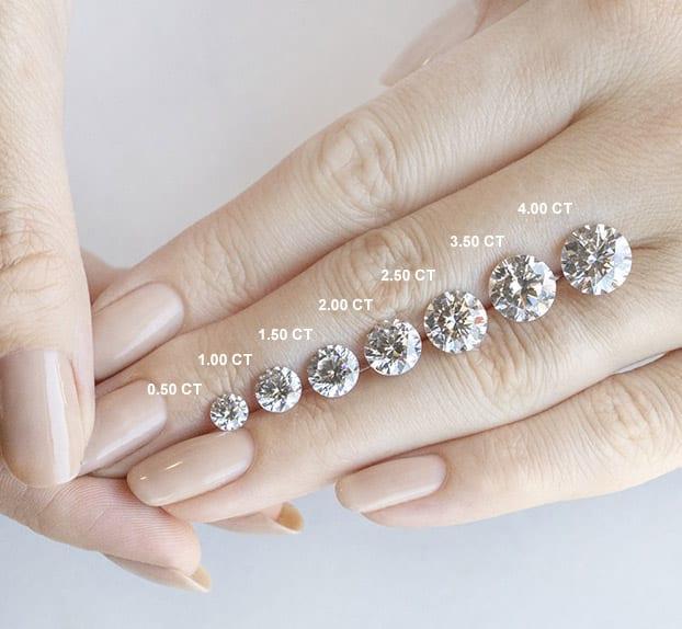Round Brilliant Cut Carat Weights - Lab Grown Diamonds & Fine Diamond Alternatives | Ethica Diamonds UK