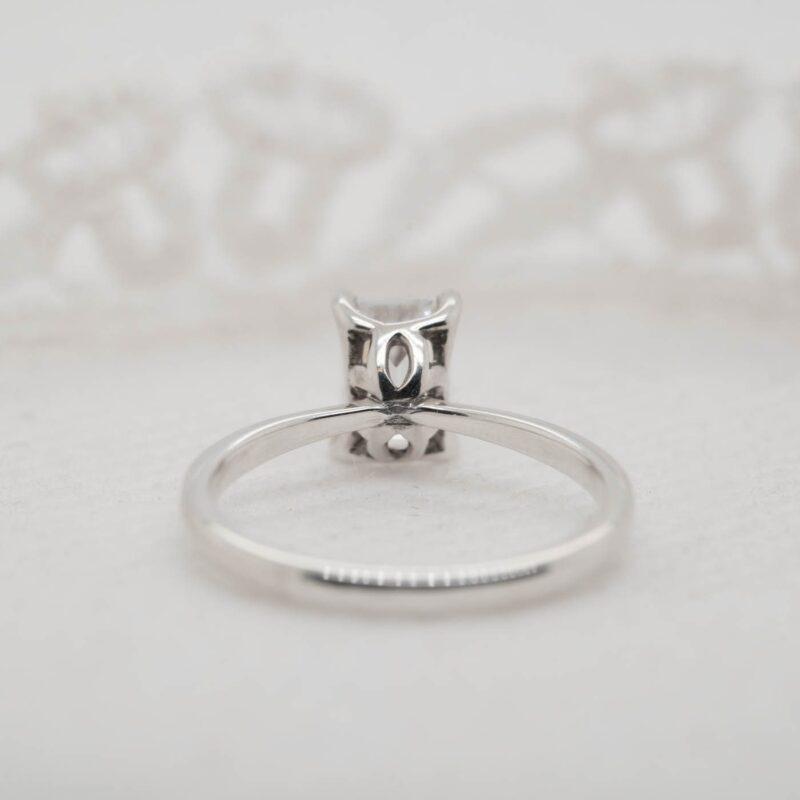 Elegant Emerald Cut Solitaire Engagement Ring | India | Ethica Diamonds